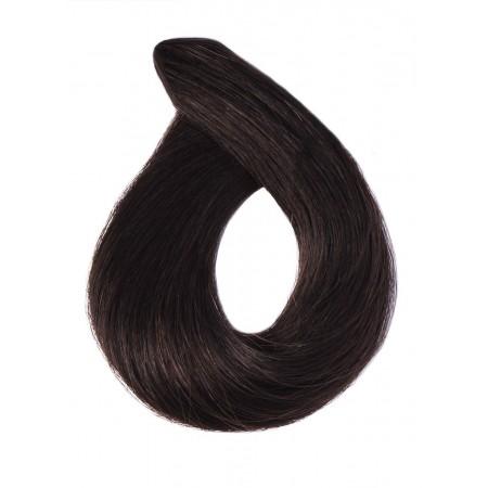 Naturalny czarny/czarny brąz kolor nr 1b 40 cm, końcówka V