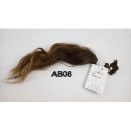 Włosy dziewicze średni brąz dł. 38 cm, 49 gram
