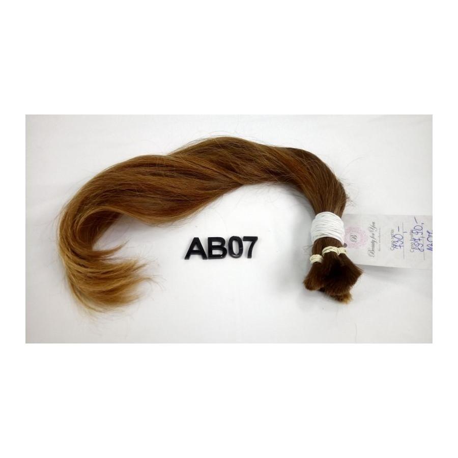 Włosy dziewicze jasny brąz dł. 42 cm, 73 gram