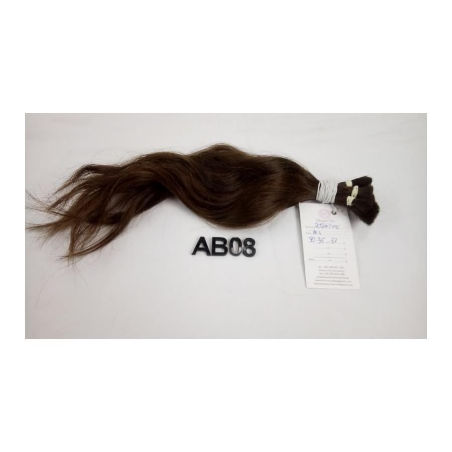 Włosy dziewicze średni brąz dł. 35 cm, 51 gram