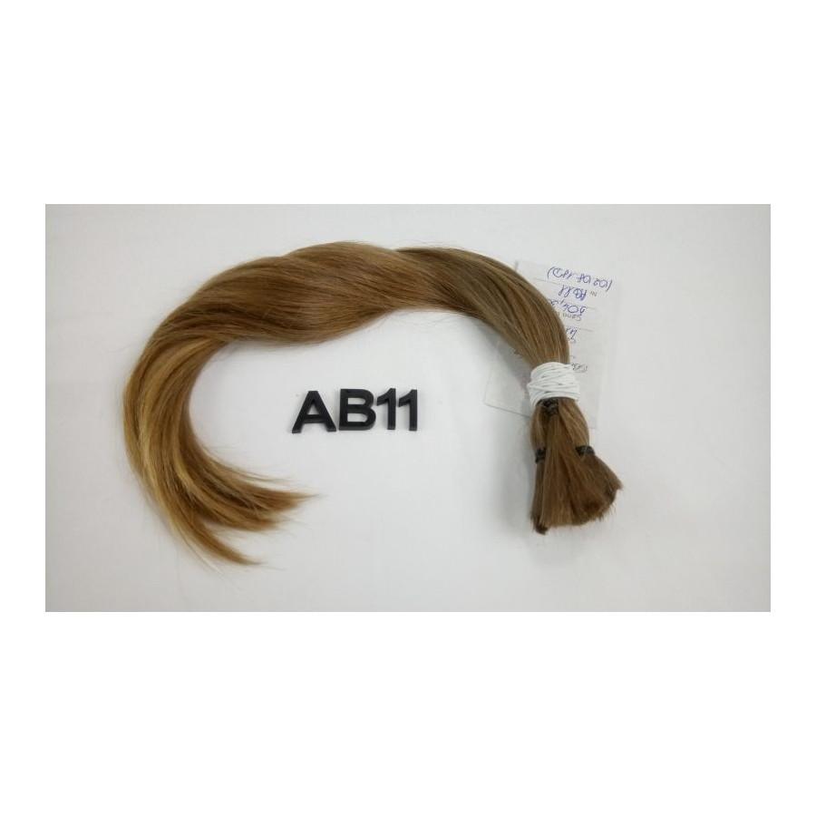 Włosy dziewicze złocisty jasny brąz dł. 38 cm, 45 gram