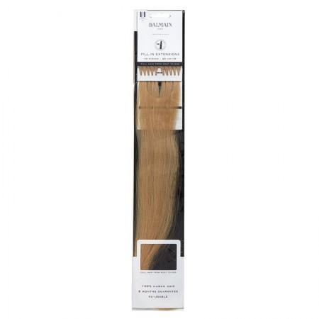 Fill-In extensions - Włosy naturalne proste z końcówką keratynową 10 pasm długości 45 cm