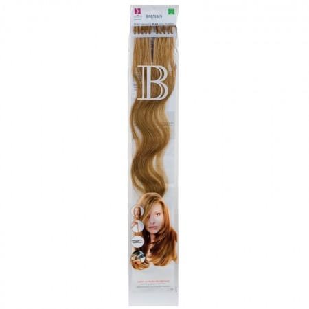 Fill-In extensions - Włosy naturalne falowane z końcówką keratynową 10 pasm długość 45 cm