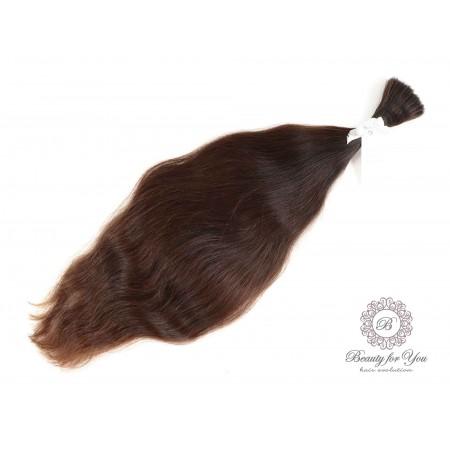 Polish Virgin hair dark medium brown color, length 64 cm and weight 135 grams