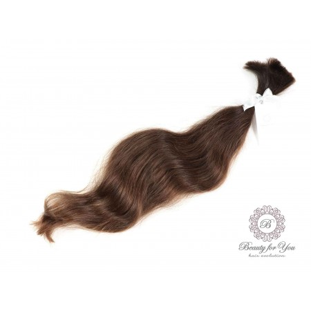 Polish Virgin hair  medium brown color, length 48-55 cm and weight 50 grams
