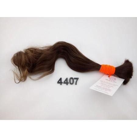 Włosy dziewicze średni brąz dł. 43 cm, 46 gram