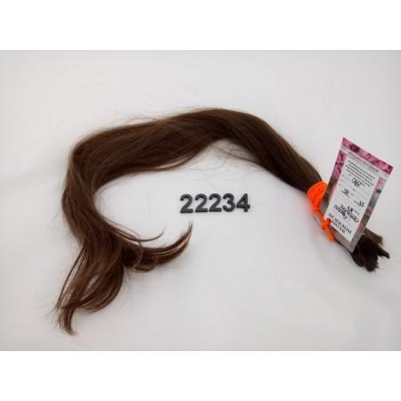 Włosy dziewicze średni brąz dł. 54 cm, 80 gram
