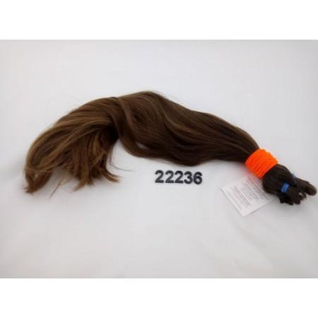 Włosy dziewicze średni jasny brąz dł. 46 cm, 223 gram