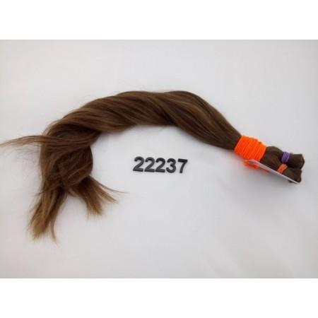 Włosy dziewicze jasny brąz dł. 47 cm, 89 gram
