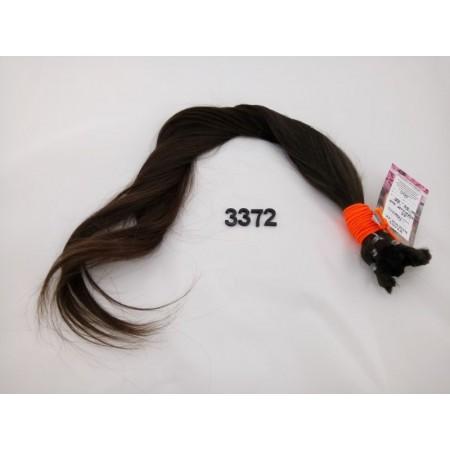 Włosy dziewicze ciemny brąz dł. 65 cm, 100 gram