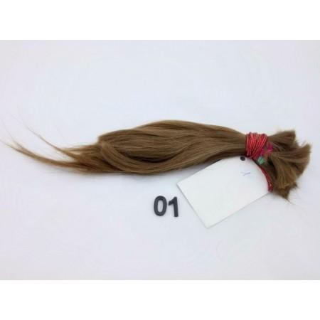 Włosy dziewicze ciemny blond dł. 28cm, 56 gram