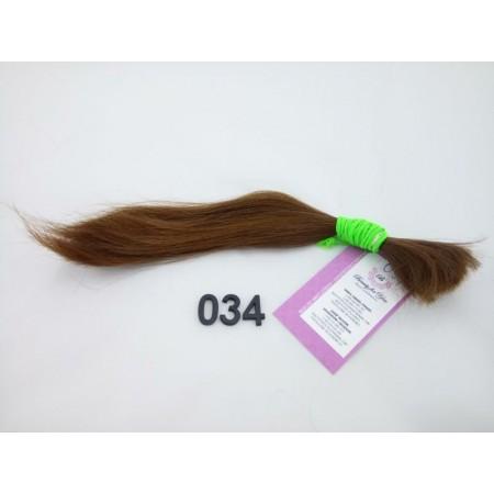 Włosy dziewicze jasny brąz dł. 27 cm, 16 gram