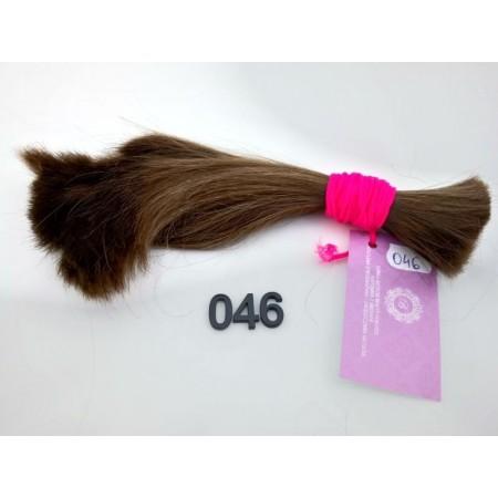 Włosy dziewicze jasny brąz dł. 24 cm, 78 gram