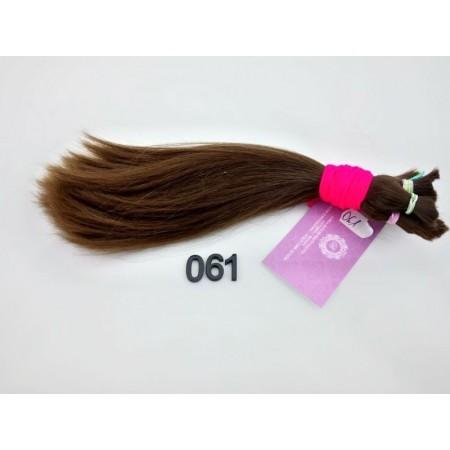 Włosy dziewicze średni brąz dł. 27 cm, 87 gram