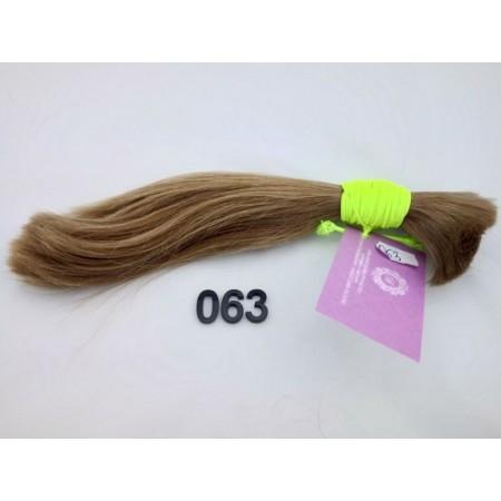 Włosy dziewicze złocisty jasny brąz naturalny blond dł. 28 cm, 74 gram