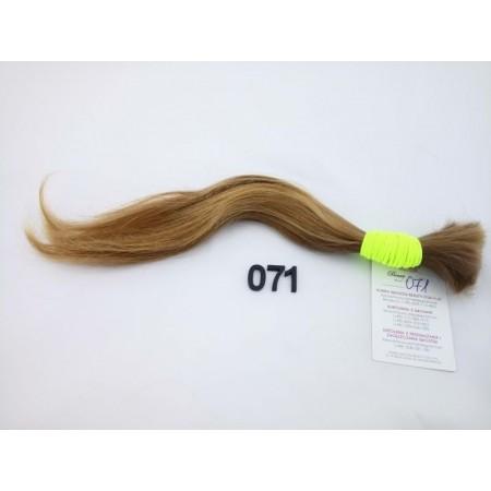 Włosy dziewicze złocisty jasny brąz dł. 30 cm, 38 gram