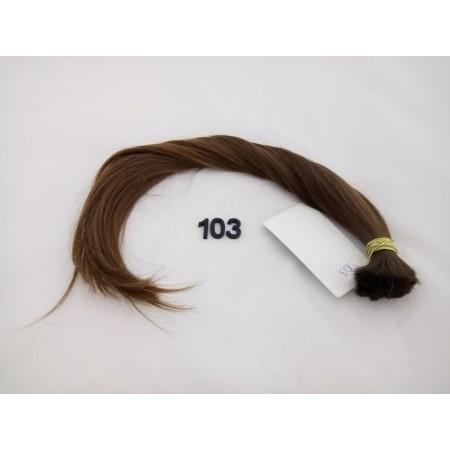 Włosy dziewicze średni brąz dł. 45 cm, 73 gram