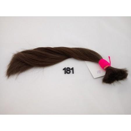 Włosy dziewicze średni brąz dł. 33 cm, 50 gram