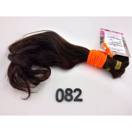 Włosy dziewicze ciemny kasztan dł. 25 cm, 46 gram