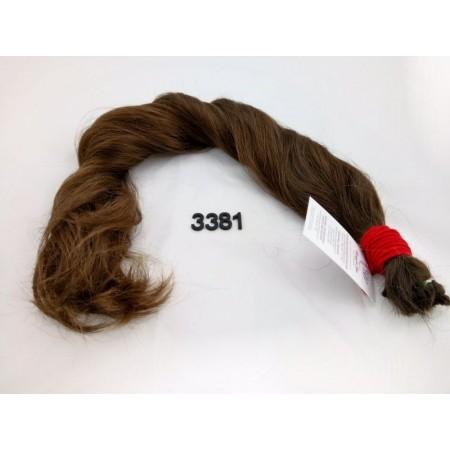 Włosy dziewicze średni brąz dł. 64 cm, 180 gram