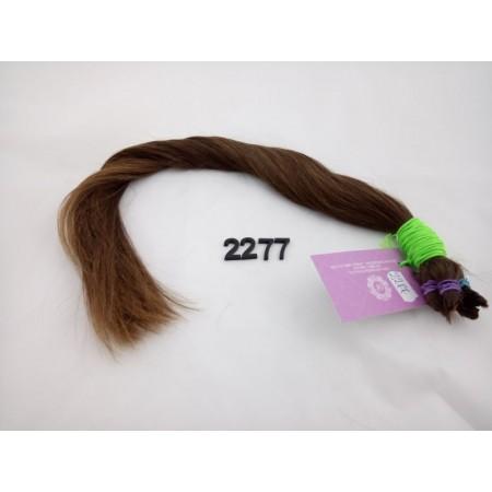 Włosy dziewicze średni brąz dł. 52 cm, 71 gram