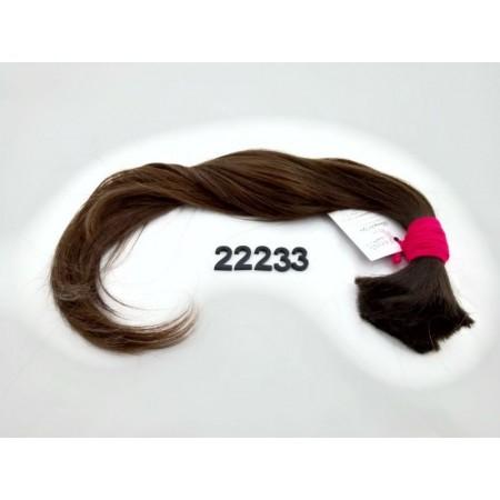 Włosy dziewicze średni brąz dł. 50 cm, 85 gram
