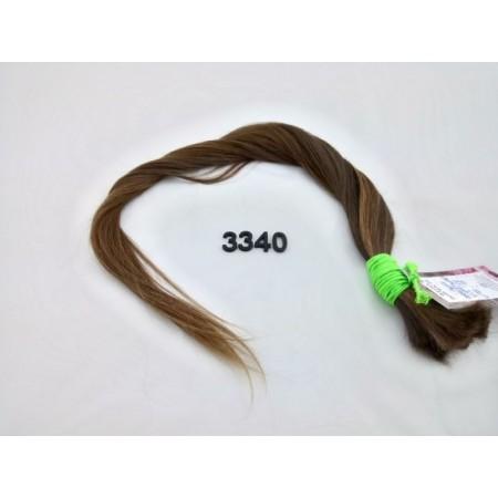 Włosy dziewicze średni brąz dł. 65 cm, 74 gram
