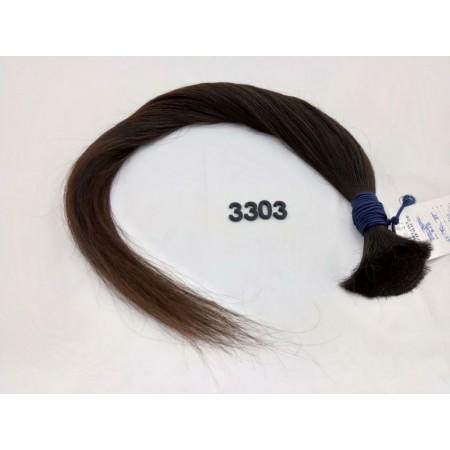 Włosy dziewicze czarny brąz dł. 70 cm, 85 gram