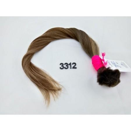 Włosy dziewicze jasny brąz dł. 58 cm, 80 gram