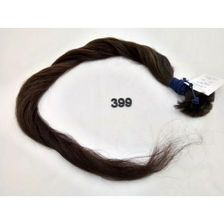 Włosy dziewicze ciemny brąz dł. 70 cm, 78 gram