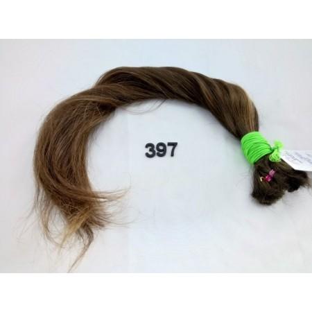 Włosy dziewicze średni brąz dł. 58 cm, 99 gram
