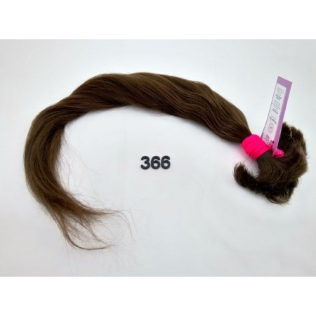 Włosy dziewicze średni brąz dł. 60 cm, 72 gram