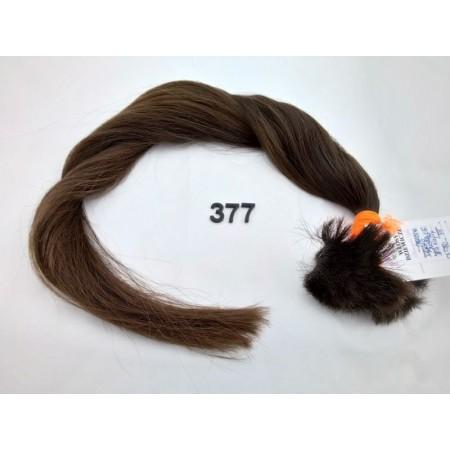 Włosy dziewicze średni brąz dł. 70 cm, 95 gram