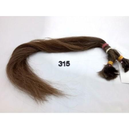 Włosy dziewicze średni jasny brąz dł. 61 cm, 110 gram