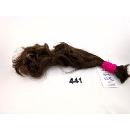 Włosy dziewicze ciemny średni brąz dł. 44 cm, 47 gram