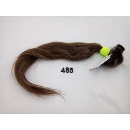 Włosy dziewicze średni jasny brąz dł. 58 cm, 115 gram
