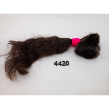 Włosy dziewicze ciemny średni brąz dł. 42 cm, 115 gram