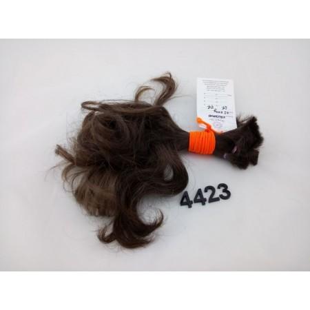 Włosy dziewicze ciemny brąz dł. 27 cm, 77 gram
