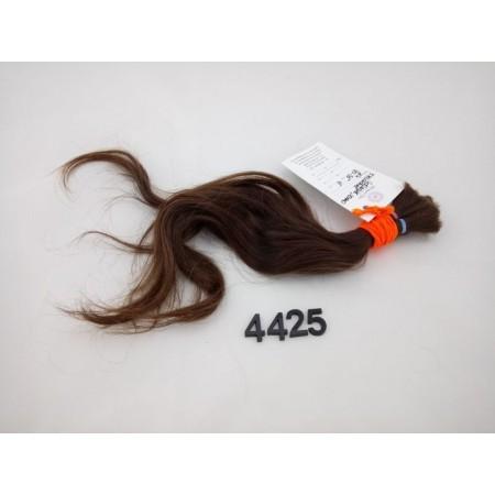 Włosy dziewicze średni brąz dł. 35 cm, 45 gram