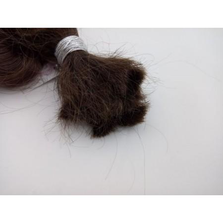 Włosy dziewicze średni brąz dł. 44 cm, 85 gram