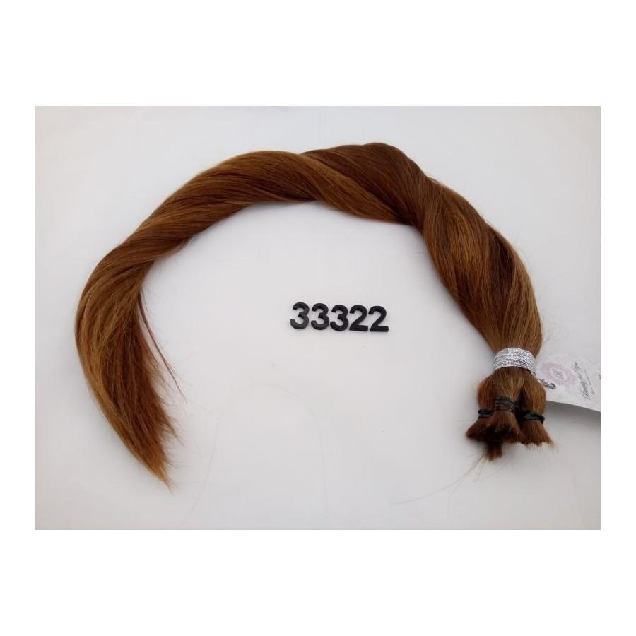 Włosy dziewicze rudy dł. 62 cm, 119 gram