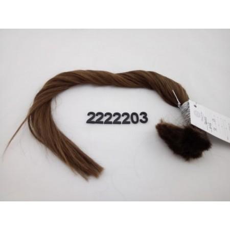 Włosy dziewicze średni jasny brąz dł. 52 cm, 63 gram