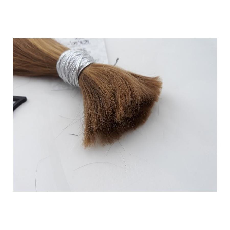 Włosy dziewicze złocisty jasny brąz dł. 30 cm, 64 gram
