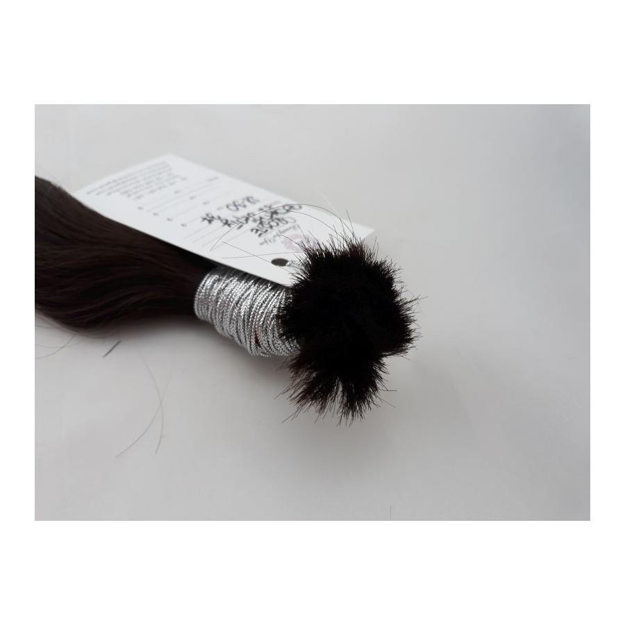 Włosy dziewicze ciemny brąz dł. 30 cm, 37 gram