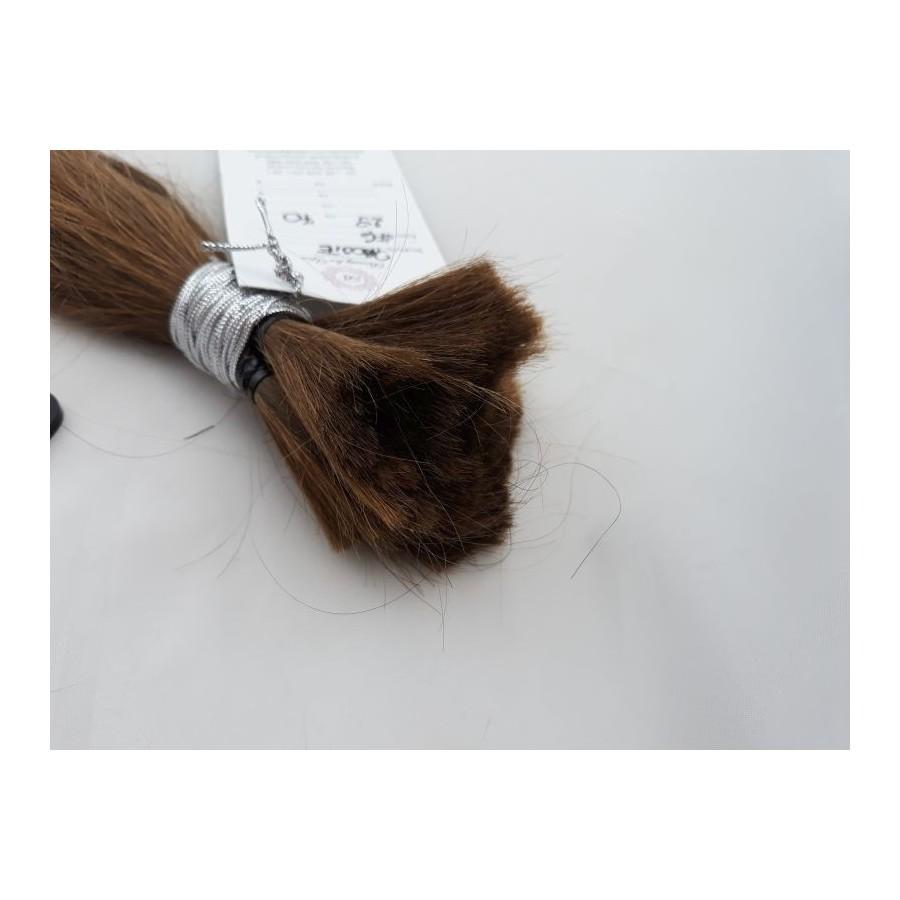 Włosy dziewicze jasny brąz dł. 29 cm, 70 gram