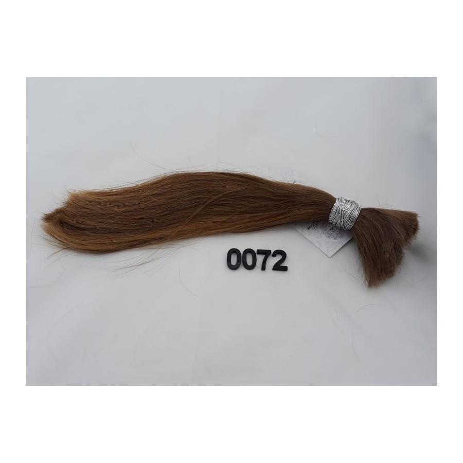 Włosy dziewicze złocisty jasny brąz dł. 30 cm, 74 gram