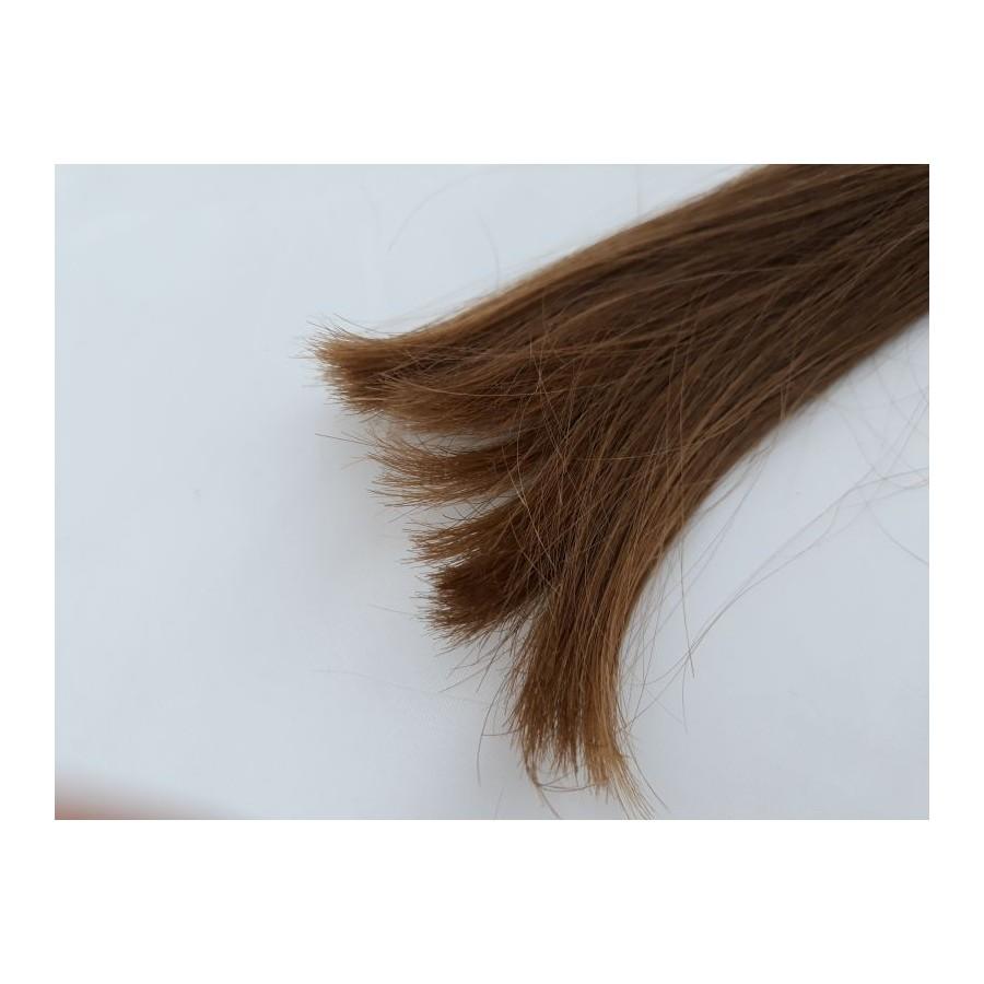 Włosy dziewicze jasny brąz dł. 28 cm, 34 gram