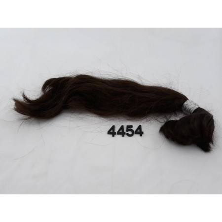 Włosy dziewicze czekoladowy brąz dł. 41 cm, 82 gram