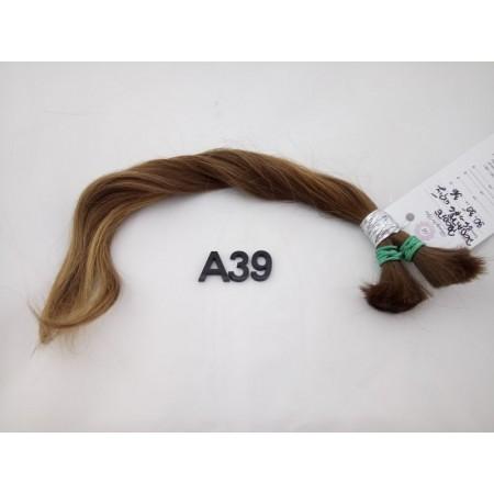 Włosy dziewicze jasny brąz dł. 35 cm 36 gram