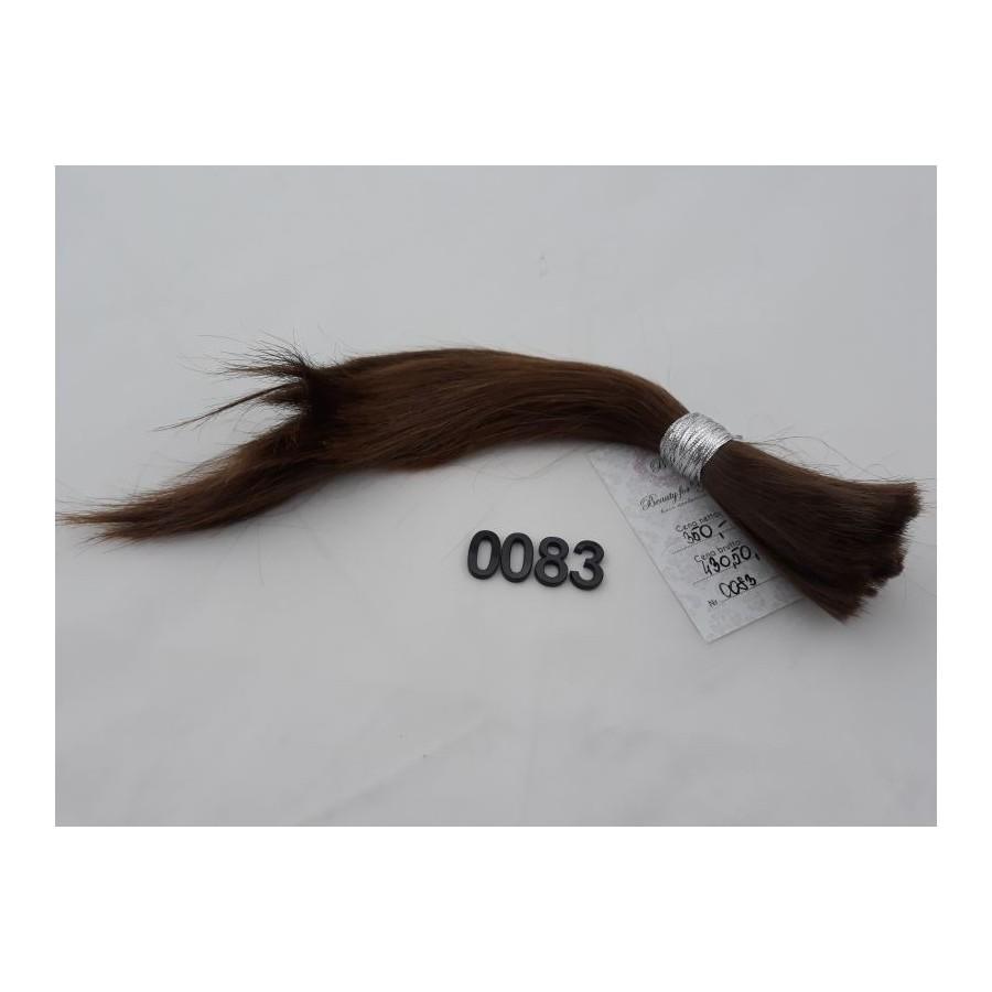 Włosy dziewicze średni jasny brąz dł. 30 cm, 59 gram